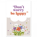Postkarte Fifi Mandirac 15x10.5 cm Don't Worry Be Happy x1