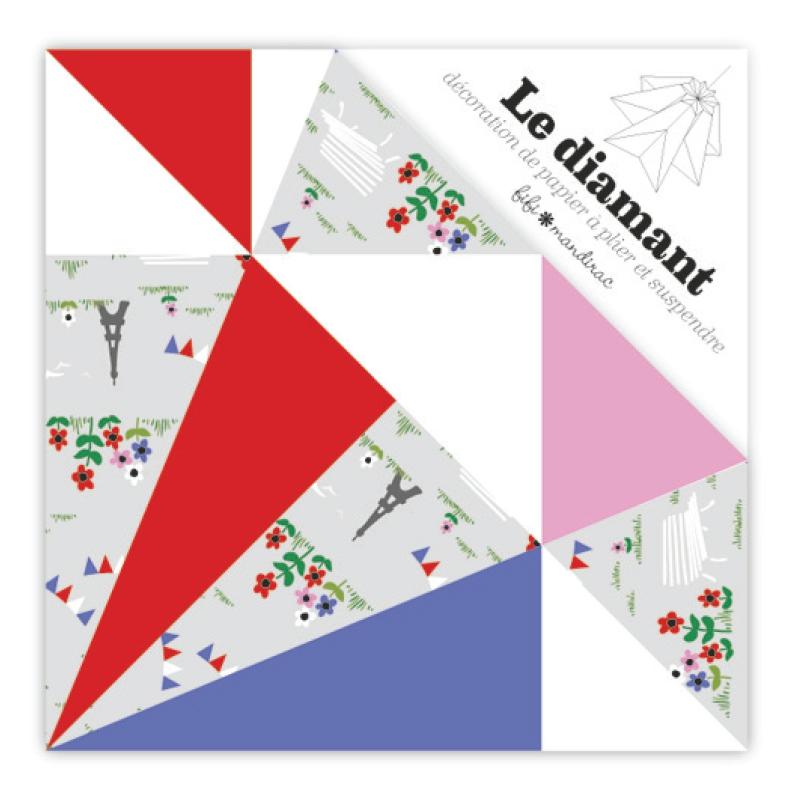 Origami Deko kit deko origami diamant fifi mandirac 13 5x9 5 cm tour eiffel x1