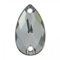 Cabochon 3230 28x17mm Crystal Silver Night x1
