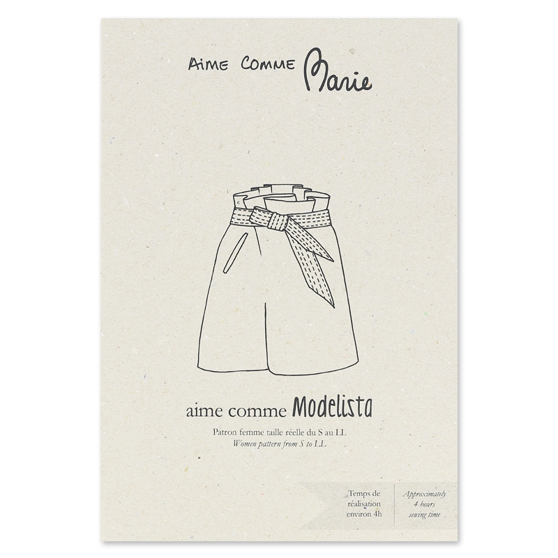 Schnittmuster Short Aime Comme Marie - Aime comme Modelista - Aime ...