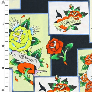 Delight Love Is True By Ed Hardy Overlapping Patches X10cm