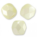 Glasschliffperlen 3mm Pastel Light Cream x50
