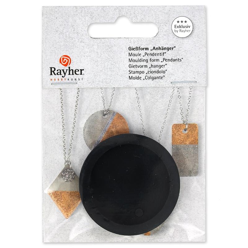 Anhänger Gießform geeignet für Kreativ-Beton 3.9 cm rund - Perles & Co