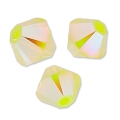 Swarovski Doppelkegel 4mm Yellow Opal AB2X x50