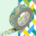 Masking Tape 15 mm Herringbone bunt Slash Green x10m
