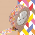 Masking Tape 15 mm Heringbone bunt Slash Red x10m