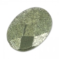 Flache facettierte Oliv 14x10 mm Pyrite x4
