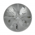 Swarovski Cabochon 1695 Sea Urchin 14mm Crystal Silver Night semi-mat