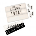 Lightbox Heidi Swapp - Dias Happy/Birthday/Celebrate/Everyday