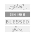 Lightbox Heidi Swapp - Dias Awesome/Shine Bright/Blessed/ Welcome