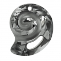 Swarovski Sea Snail 6731 28 mm Crystal Silver Night semi-mat