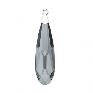Raindrop Swarovski 6533 33mm Crystal Silver Night/rhodium x1