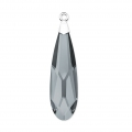 Raindrop Swarovski 6533 17.5mm Crystal Silver Night/Rhodium x1