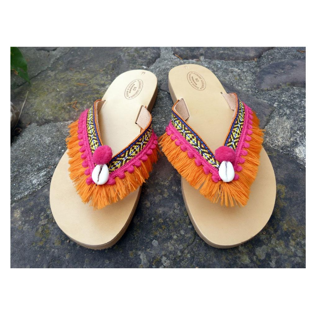 Flip-Flop Schuhen zum Verzieren Größe 38 Natürlich x1 - Perles & Co