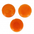 Steinnuss Pucks 12 mm Orange x 4