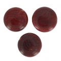 Steinnuss Pucks 12 mm Bordeaux x 4