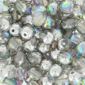 Rundperlen 4mm Crystal Silver Rainbow x50