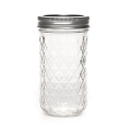 Weckglas Mason Jar Ball 12 oz  Diamant  Muster x1