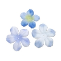 Sortiment mit 40 Blumen aus Stoff Begonie Light Blue