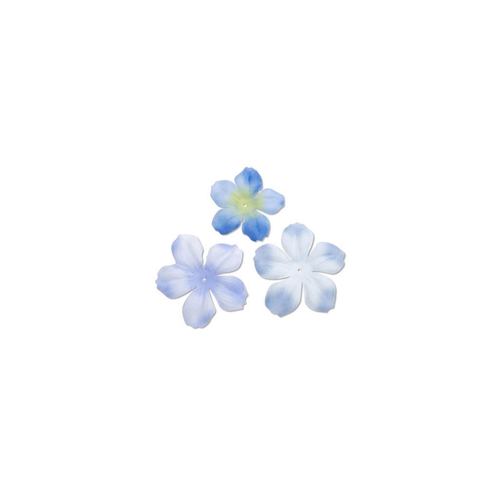sortiment mit 40 blumen aus stoff begonie light blue. Black Bedroom Furniture Sets. Home Design Ideas