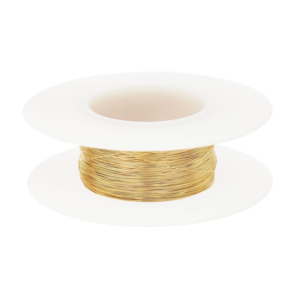 Vergoldeter Draht 14 Karat 0.2mm halbhart x 20 m - Perles & Co