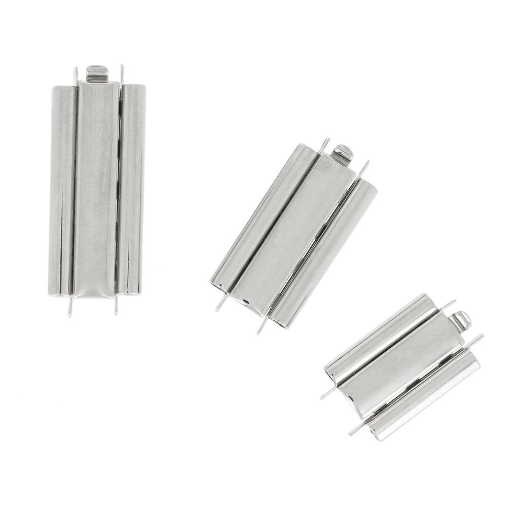 Beadslide Verschluss für mit Perlen gewebte Bänder 29x10 mm rhodiu ...