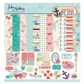 Sortiment von Dickem Papier und Stickers Julie Nutting 30.5x30.5 cm Nautical Bliss