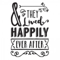 Hotfix Applikation  & they lived happily ever after 24.8x17 cm schwarz x1