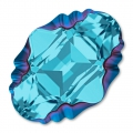 Swarovski 4926 Oval Tribe Fancy Stone 14x10mm Aquamarine Metallic Blue