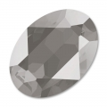 Cabochon Swarovski 4120 Oval 14x10mm Crystal Dark Grey x1
