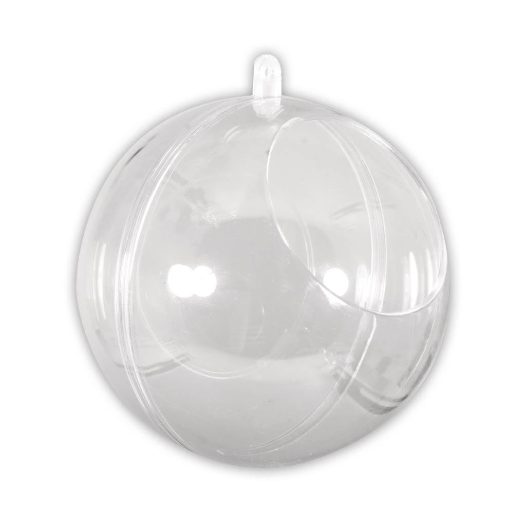 Durchsichtige Weihnachtskugel zum Befüllen 100mm mit 60mm Öffnung ...