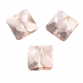 Facettiertes Quadrat 10mm Rose Opal x1