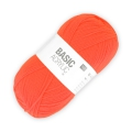 Wolle Basic Acrylic neon Orange x100g