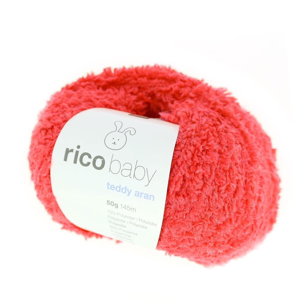 Rico Baby Wolle.Wolle Rico Baby Teddy Aran Melon X50g