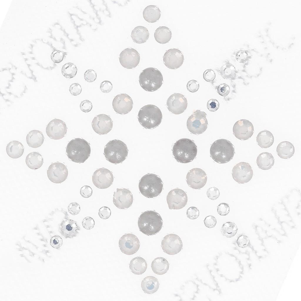 Hotfix Strass Muster Stern 35cm Crystalwhite Opalgrey Pearl