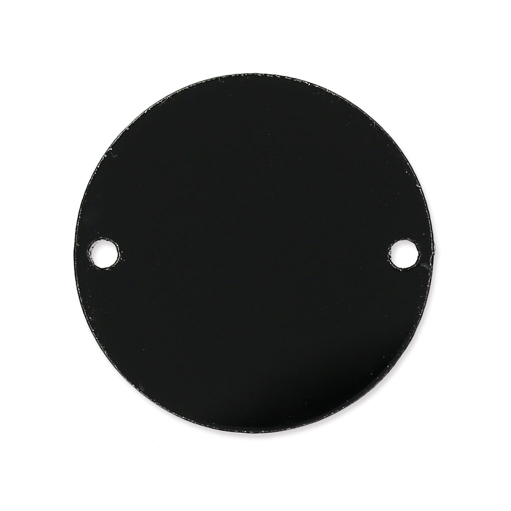 runder zwischenteil 2 l cher aus plexiglas 20 mm schwarz undurchsi perles co. Black Bedroom Furniture Sets. Home Design Ideas