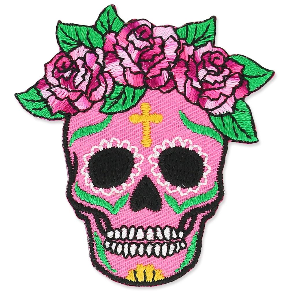 Innenarchitektur Mexikanischer Totenkopf Galerie Von Hotfix Superblikation Calavera 50x54mm Rosa X1 -