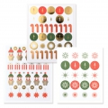 Stickers Paper Poetry Puristic Christmas Sankt Nikolaus 15 Musterx182