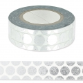Klebeband - Paper Poetry Tape 15mm Punkte Silber x10m