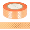 Klebeband - Paper Poetry Tape 15mm  Dreiecke gold/Korall x10m