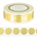 Klebeband - Paper Poetry Tape 15mm Punkte gold/weiß x10m