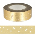 Klebeband - Paper Poetry Tape 15mm Confettis gold x10m