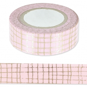 Klebeband - Paper Poetry Tape 15mm Glitter Gold/Rosa x10m