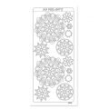 Set von Stickers in Relief Peel Off's 10x23 cm Mandalas gold