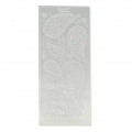 Set von Stickers in Relief Peel Off's 10x23 cm Paisley silber