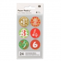 Stickers Paper Poetry Adventskalender 28 mm Rot/grün x24