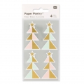 Stickers Paper Poetry Sapins 57 mm Pastel/gold x16