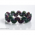 Glasperlen Preciosa Tee Beads 2x8mm Crystal  x50