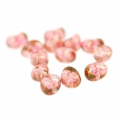 Tico Beads Glasperlen 5x7 mm Undurchsichtig Rose Ceramic Look x25