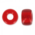 Glasperlen Pony Beads 9 mm Light Siam x15